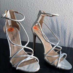 Woman's white blaker heels